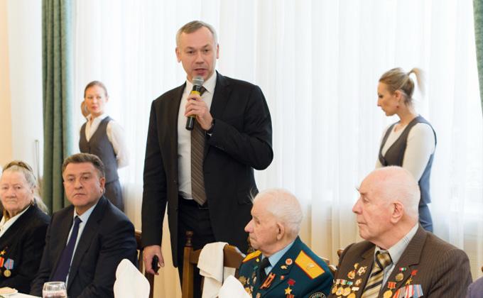 Губернатор Травников провел торжественный прием, посвященный Дню Героев Отечества