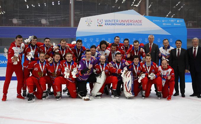 Новосибирские хоккеисты выиграли золото Универсиады-2019 в Красноярске