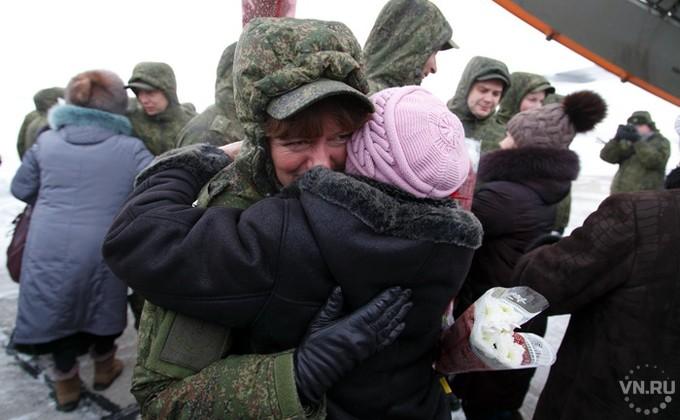 Военные мед. работники вернулись изСирии вНовосибирск