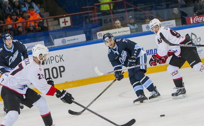 Хоккейная «Сибирь» непрошла вплей-офф Кубка Гагарина