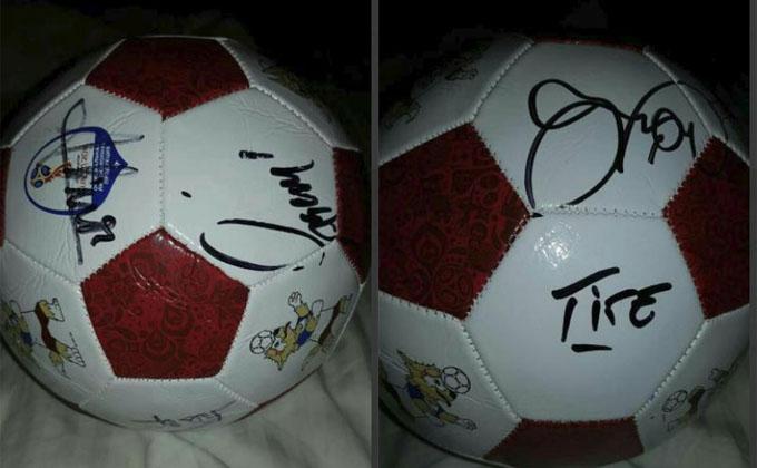 Мяч с автографами сборной Бразилии за 180 тыс. рублей продают в Новосибирске