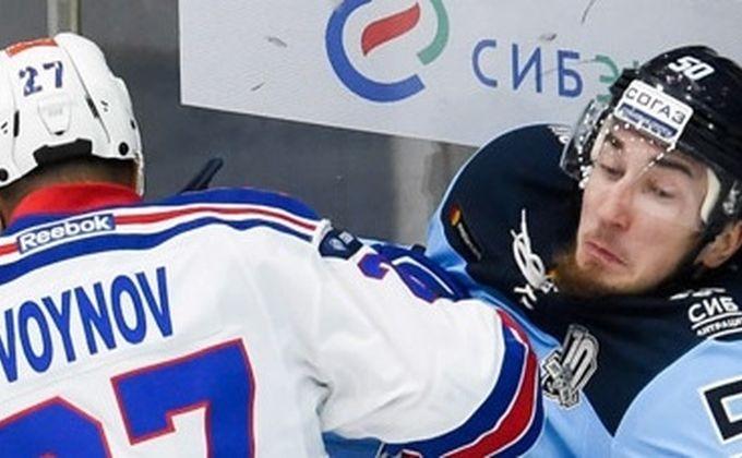 Хоккейная «Сибирь» всухую проиграла питерскому СКА вЛДС Новосибирска