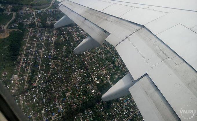 ВНовосибирске аварийно сел Boeing