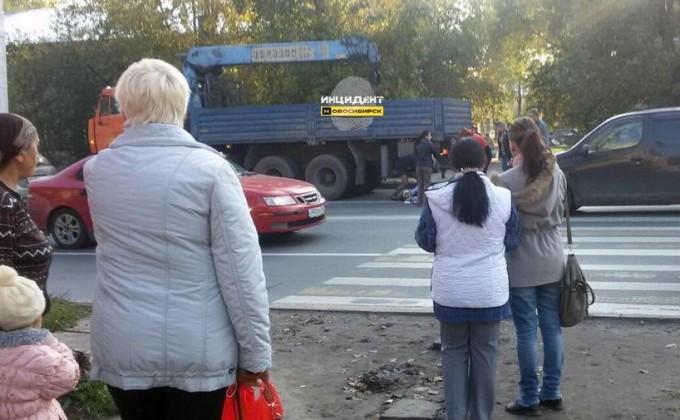 НаМочищенском шоссе камазист насмерть сбил женщину