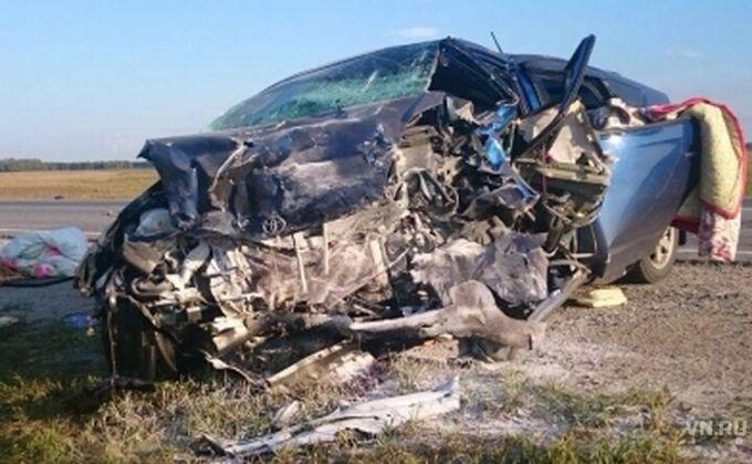 Встрашном ДТП натрассе «Омск-Новосибирск» погибли 6 человек