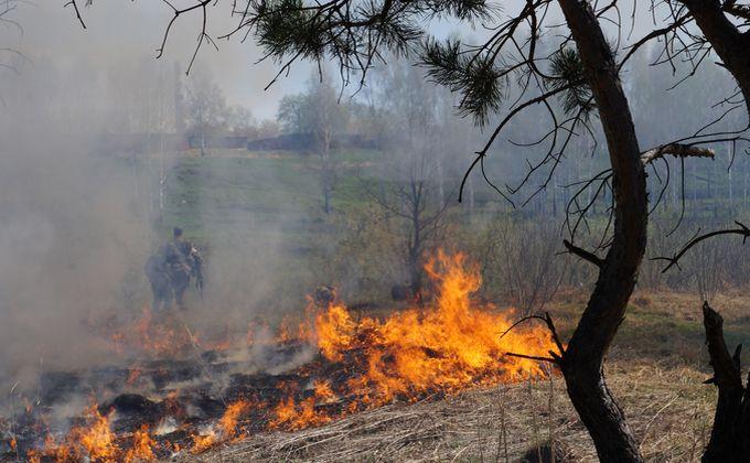 Пожаром закончилась реконструкция военных событий в Бердске