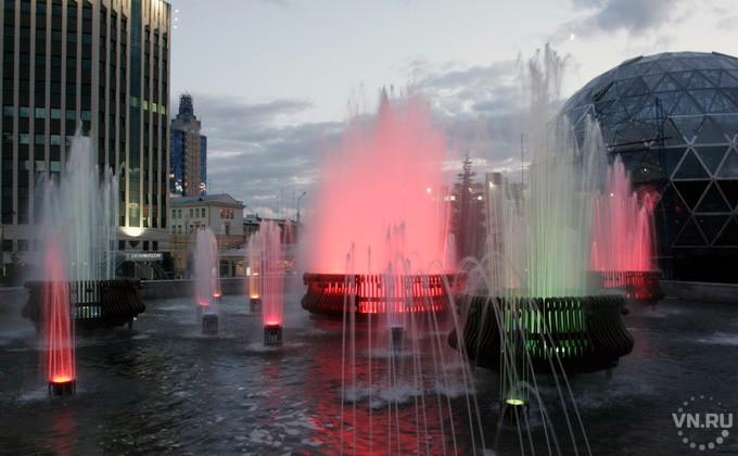 С5мая вНовосибирске будут работать 15 фонтанов