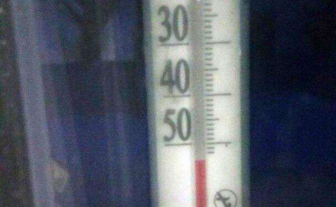 О новом температурном рекорде в -54°C рассказал искитимец