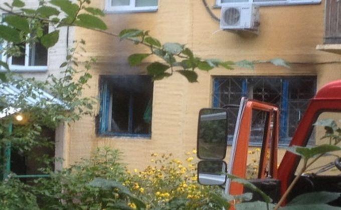 ВНовосибирске пожарные спасли изгорящего дома восемь человек исобаку