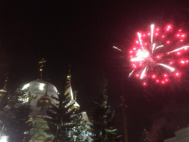 Рождественский салют состоялся в Новосибирске