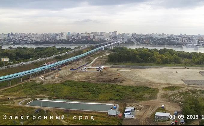 Онлайн трансляция строительства ЛДС началась в Новосибирске