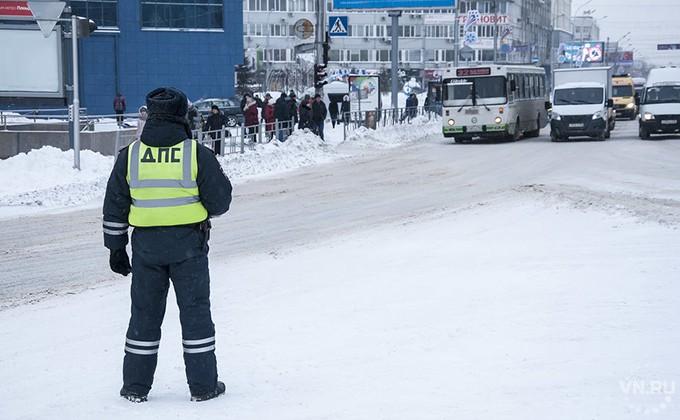 ДТП вНовосибирске: два автобуса столкнулись наостановке «Кристалл»