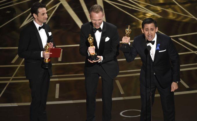 На 89-й церемонии вручения кинопремии Оскар в Лос Анджелесе актеры не сдерживали эмоции