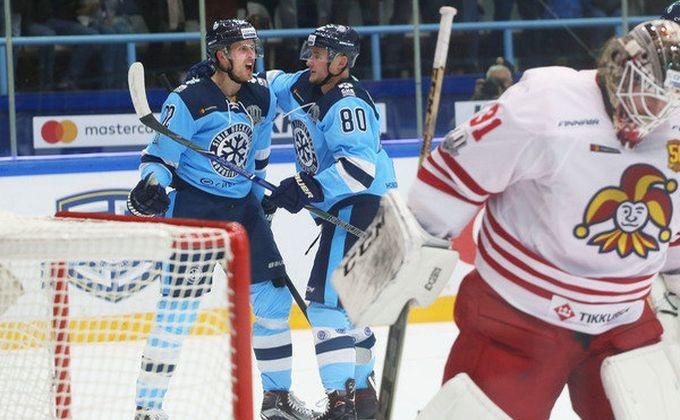 Хоккей: «Сибирь» одолела хельсинкский «Йокерит»