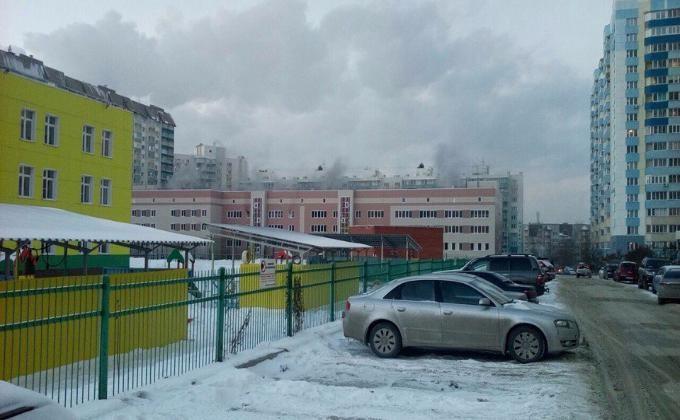 Строящаяся школа горела вНовосибирске