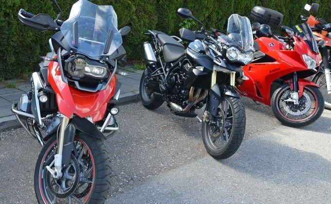 В Российской Федерации упали вцене мотоциклы