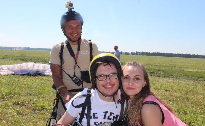 1-ый человек синвалидностью из Российской Федерации поднялся напараплане внебо