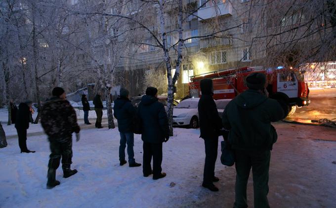 Массовая эвакуация наплощади Маркса идет вНовосибирске